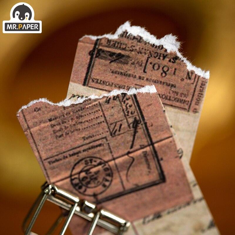 Mr.paper 100pcs Time Travel Writing Paper Kraft Card Background Journaling Bullet Scrapbooking Material Paper LOMO Card Escol 2