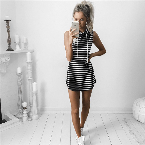 Hae5fc2a27bbc4763a6acacb11e7a2d2fv - Hooded Sweatshirt Dress O-neck Sexy Elegant Women Party Dresses Fashion Bodycon Short Dress Package Hips Slim Summer Female