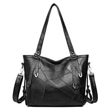 Bolsos vintage de cuero para mujer gran capacidad casual bolsa de hombro para mujer bolso bandolera para mujer Bolso Negro para viaje