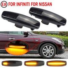 Pcs Para Infiniti EX25 2 EX35 EX37 FX30d FX35 FX37 FX50 G25 G35 G37 JX35 M25 M35 M37 Dinâmica LED Side Marcador de Turno Sinal Luzes