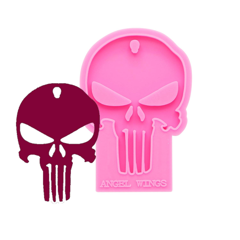 Shiny keychains Halloween skull Silicone Molds DIY Jewelry keychain mould Epoxy Resin Mold Custom DY0158|Cakevormen|   - AliExpress