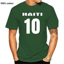 2019 sommer Mode Männer T-Shirt HAITI Lander Flagshirt Mit Ruckennummer