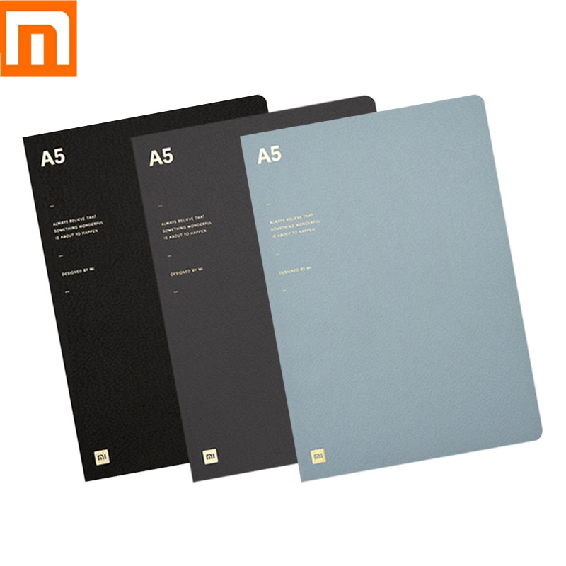 Xiaomi Mijia Notebook Diary Notepad Three Paragraph Inside Page Daolin Paper A5 Page Smooth Strokes 3 Colors For School Office