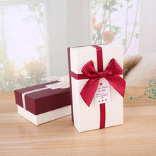 цены New Creative Gift Boxes Bow Tie Candy Box Decorations DIY Paper Gift Boxes Favor Rectangle Box Party Supplies Wedding