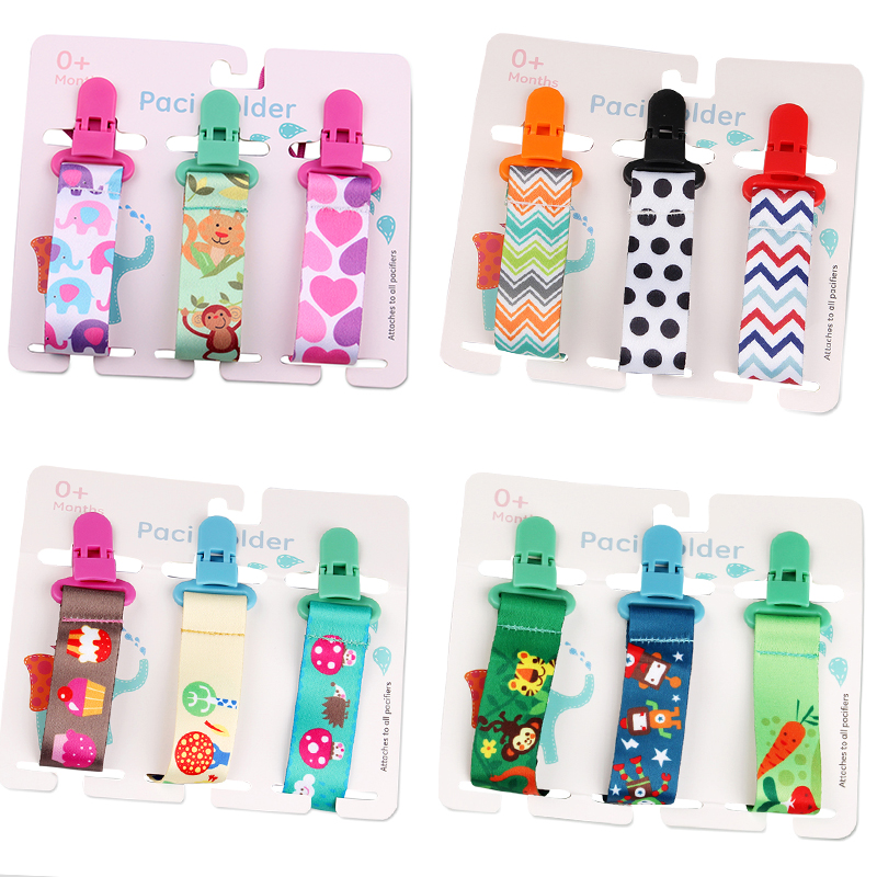 3 Pcs/Set Baby Pacifier Clips Pacifier Chain Dummy Clip Nipple Holder For Nipples Children Pacifier Clip Soother Holder attache|Pacifiers Leashes & Cases| - AliExpress