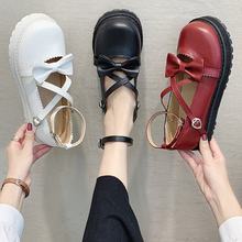 2020 autumn new Lolita shallow mouth low heel bow tea party cute round head soft sister loli lo mother shoes(China)