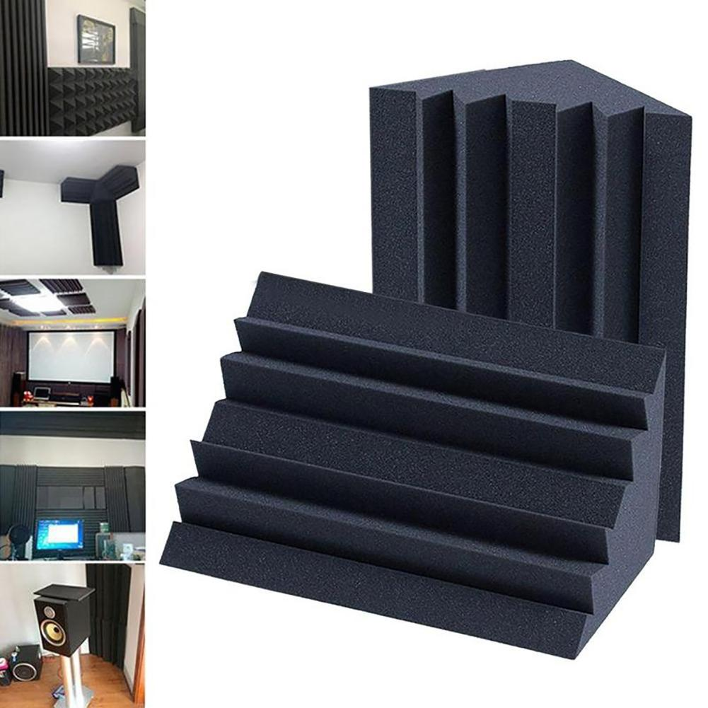 Soundproofing Foam Acoustic Bass Trap Corner Absorbers For Meeting Studio Room Sound Treatment