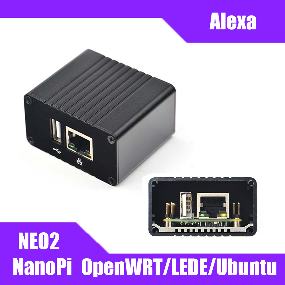 NanoPi NEO2 Allwinner H5 Development Board 64 Bit Quad Core A53 Gigabit Ethernet Built In Six Core Mail450 GPU Run UbuntuCore