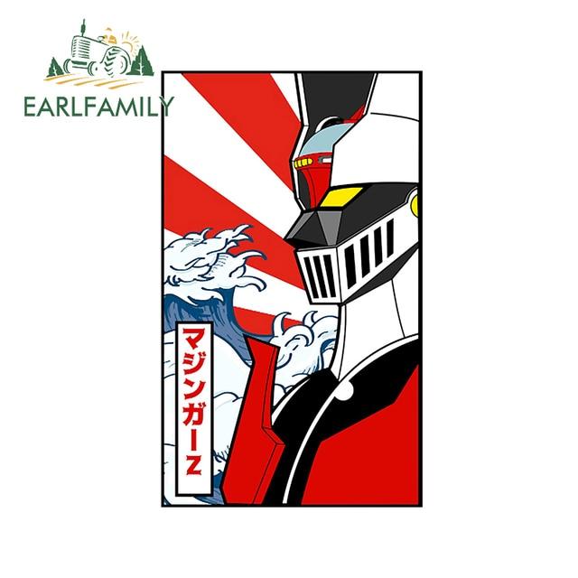 EARLFAMILY 13cm x 8cm For Mazinger Z Robot Car Stickers Anime Decals Creative Graphics Waterproof Scratch Proof Vinyl Car Wrap