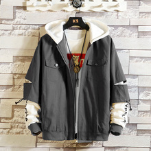 Brand Fashion Jacket Men 2020 Autumn Spring Patchwork Japan Style Clothing Plus ASIAN SIZE M-5XL afc asian cup 2019 japan turkmenistan