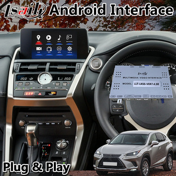 Lsailt Android Car Video Interface for Lexus NX300 with Touchpad GPS Navigation Box 2017-2020 Year 8 Inch NX 300 image