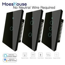 Touch-Switch Alexa RF433 Work Wifi Smart Google Home with 170-250V Needed No-Neutral-Wire