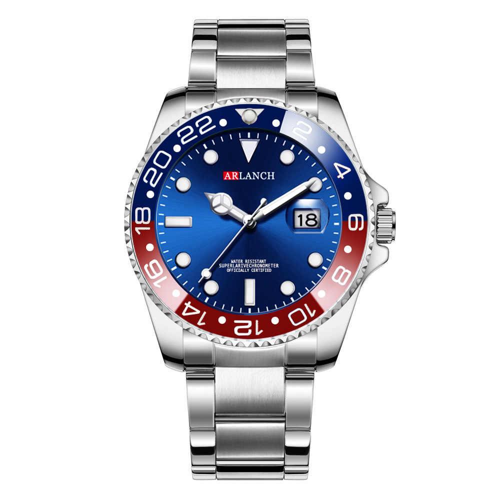 Мужские часы Топ бренд класса люкс Rolexable часы в кварцевые наручные часы для мужчин нержавеющая сталь Водонепроницаемый Дата мужские часы hombre