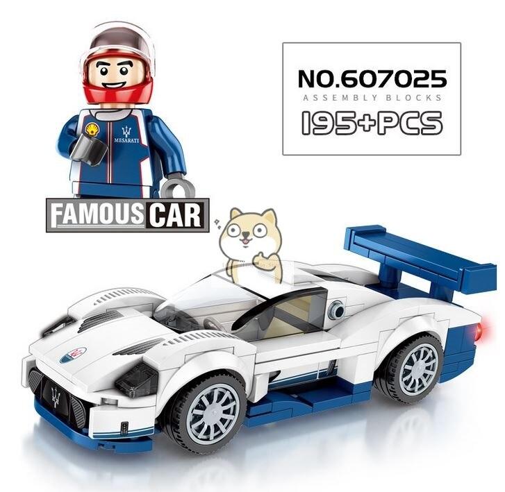 Детские сборные игрушки знаменитый автомобиль супер бегущий гоночный маленькие частицы Волшебные блоки для сборки конструктор-головоломка - Цвет: 025