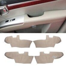 Dla Hyundai Santa Fe 2006 2007 2008 2009 2010 2011 2012 podłokietnik na drzwiach samochodu Panel skóra z mikrofibry pokrywa ochronna wykończenia