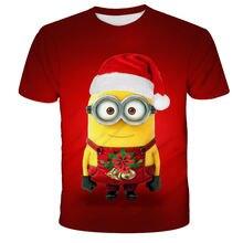 2020 Рождественская футболка с 3d принтом Детская модная аниме