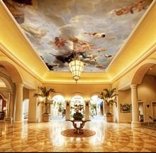 Custom 3D Ceiling Mural Wallpaper European Style atmospheric mural decorative painting