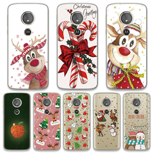 Cartoon Deer Christmas Gift Soft TPU Cover For Motorola Moto G7 G6 G4 Play G6 G5 G5S G4 Plus G3 G7 Power One Girls Case New Year(China)