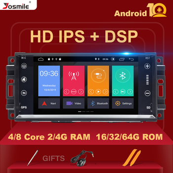 4GB 1Din Android 10 Car Multimedia Radio For Jeep Grand Cherokee Chrysler 300C Compass Patriot DodgeSebring GPS NavigationStereo image