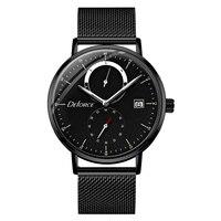 Deforce Business Men Watch Quartz Calendar Week Second Display Students Boys Workers Watches 30M Waterproof Luminous Wristwatch|Quartz Watches| |  -