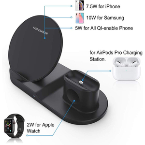 Image 3 - Draadloze Oplader Qi 10W 3 In 1 Wireless Charging Stand Dock Station Voor Airpods Pro Iphone 11 Pro Max xr 8 X Apple Horloge 5 4 3 2
