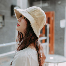 Cotton Bucket Hats Solid Color Fisherman Hat Outdoor Fishing Caps Climbing Folding Cap Fashion Style