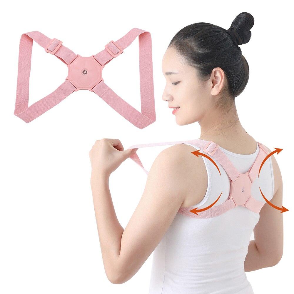 2020 Smart Posture Corrector Intelligent Sensor Vibration Reminder Adjustable Brace Straightener Correction Trainer Back Support