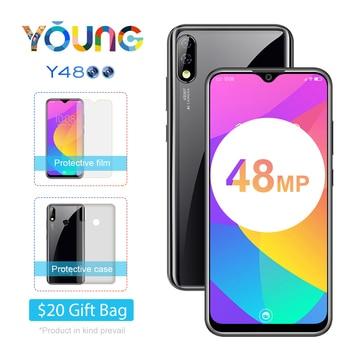 Перейти на Алиэкспресс и купить Оригинальный Новый Смартфон Oukitel Y4800 48MP 5MP FF AI камера 16M YOUNGE 6 ГБ ОЗУ 128 Гб ПЗУ Android 9,0 4000 мАч OTG NFC 6,3 ''телефон