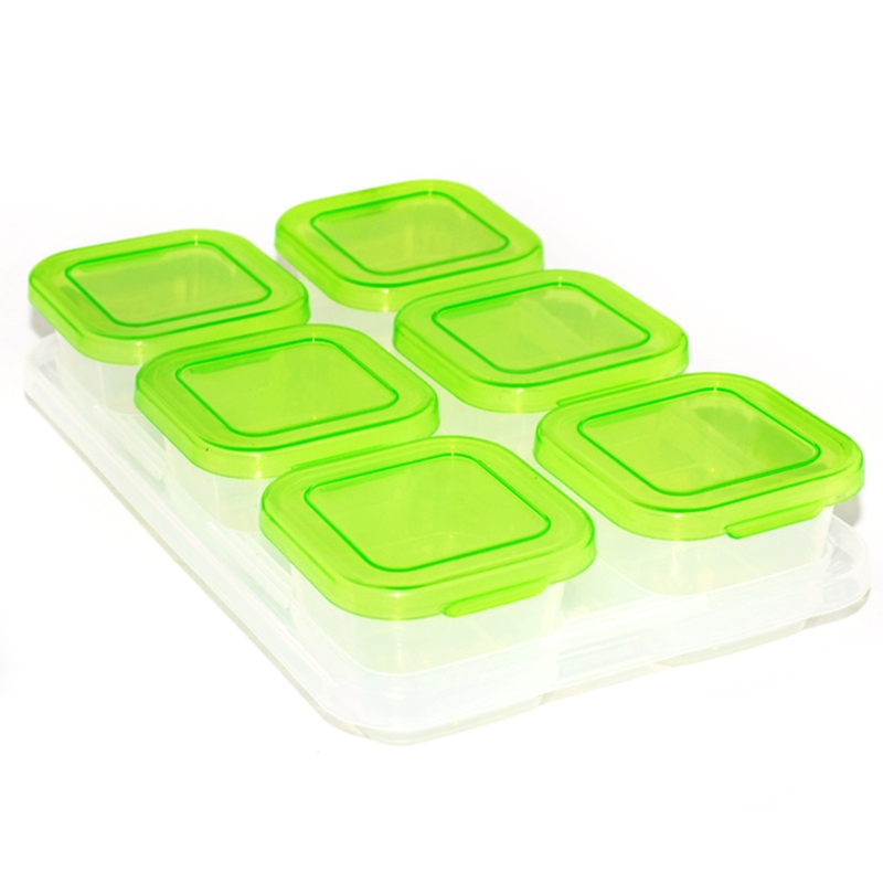 Children Baby Food Container Refrigerator Freezing Cubes with Tray Storage Box H055