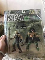 2pcs/set Mcfarlane Exclusive Garage Kit Classic Toy Rocks Music: Kiss Band Demon and Crown Action Figure Collectible Model Toy