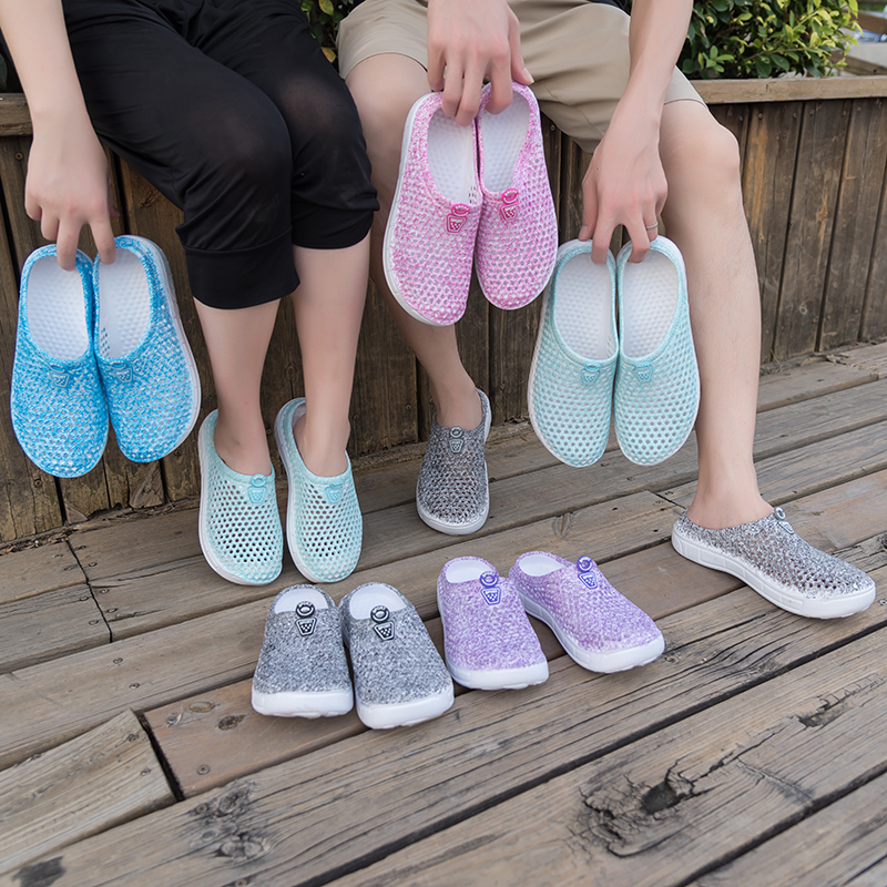 Summer Outside Slippers Women Beach Shoes Casual Fashion Outdoor Slippers Cheap Sandal Jelly Shoes Female Cute Slippers on Sale 4