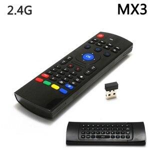 Универсальный 2,4G беспроводной Air Mouse Gyro Голосовое управление сенсорная мини-клавиатура Пульт дистанционного управления для ПК Android TV Box двух...