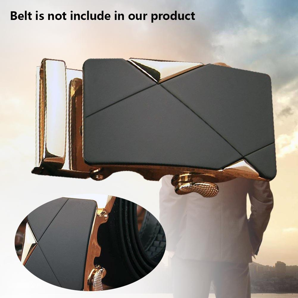 Men Alloy Automatic Belt Buckle Leather Belts Waist Ratchet Business Waistband Buckles Belts