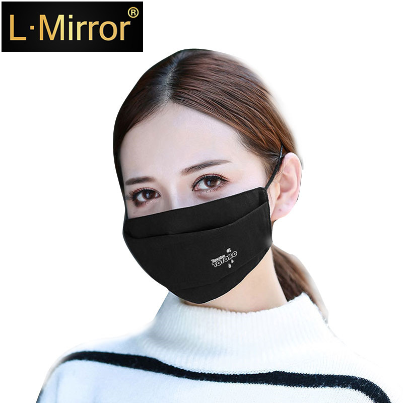 L.Mirror 1Pcs Fashion 3 Layer Face Mouth Mask Anti Dust  Filter Windproof Mouth-muffle Bacteria Proof Flu  S Care Reusable