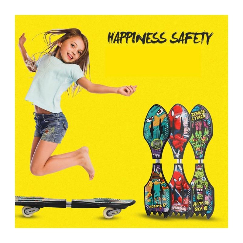 Fashion Cool Sport Skateboard Rocket Shape Vigor Board Plastic Boy's Wearproof PU Flashing Wheel Brush Street Snake Board 82cm