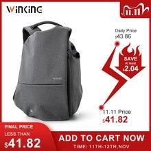 Kingsons yeni stil moda İşlevli erkekler seyahat için USB şarj sırt çantası genç ve erkek su geçirmez anti hırsızlık çanta