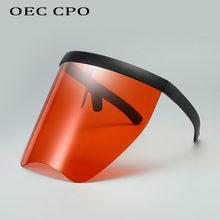 Солнцезащитные очки оверсайз для мужчин и женщин цельные большие