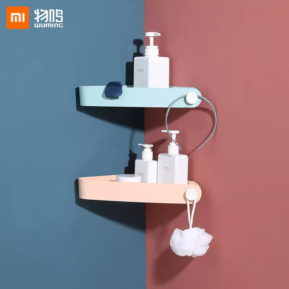 Xiaomi Wuming Bathroom Kitchen Storage Shelf Shower Corner Storage Rack Triangular Bathroom Shelves Bathroom Basket Holder