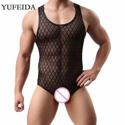 ملابس داخلية للرجال من YUFEIDA ملابس داخلية شبكية ملابس داخلية للرجال ملابس داخلية للمصارعة المثليين ملابس داخلية قطعة واحدة ملابس داخلية قصير...