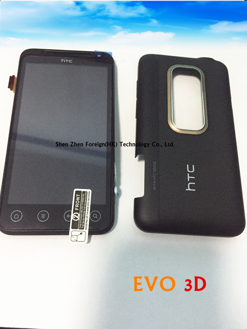 For Russian Good  Original For Htc EVO 3D G17 LCD Display Screen Assembly Black With Back Housing
