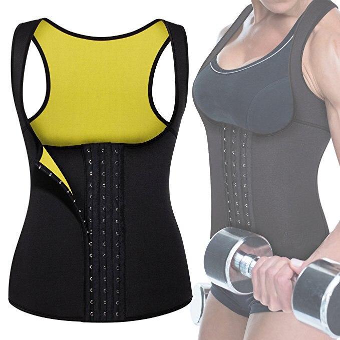 Zangalewa Women Workout Neoprene Shapewear Girdles Corset Weight Loss Waist Trainer Tummy Control Body Shaper Belly Slimmer Vest
