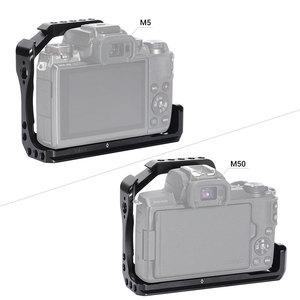 Image 4 - Nato 레일이있는 Canon EOS M50 / M5 케이지 용 SmallRig DSLR 카메라 케이지 퀵 릴리스 어 테치먼트 2168 용 콜드 슈 마운트