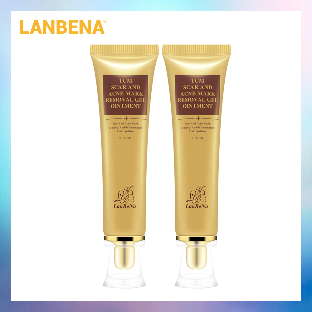 LANBENA Acne Scar Removal Cream Scar Gel Skin Repair Face Cream Acne Spots Acne Treatment Skin Care Whitening Stretch Marks 2PCS