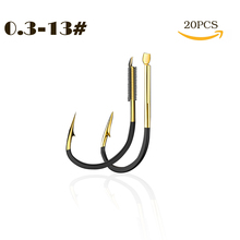 20pcs/Lot Fishing Hooks Fishhooks Accessories Supplies Lures Carp Tackle Barbed Colored Tungsten Steel