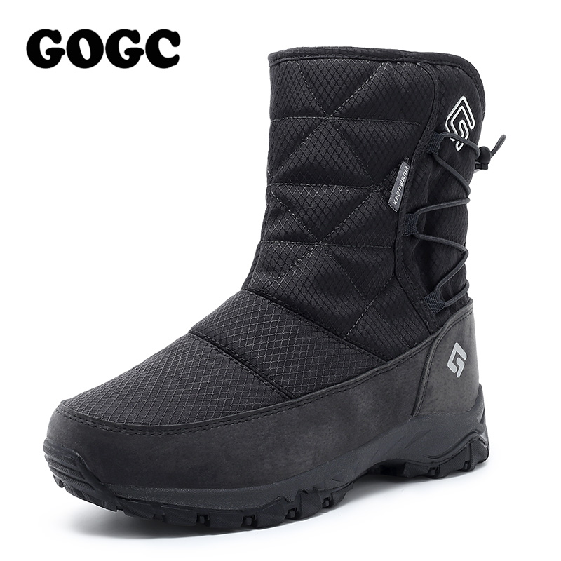 GOGC Winter Boots Waterproof Women Ankle for Shoes White G9905