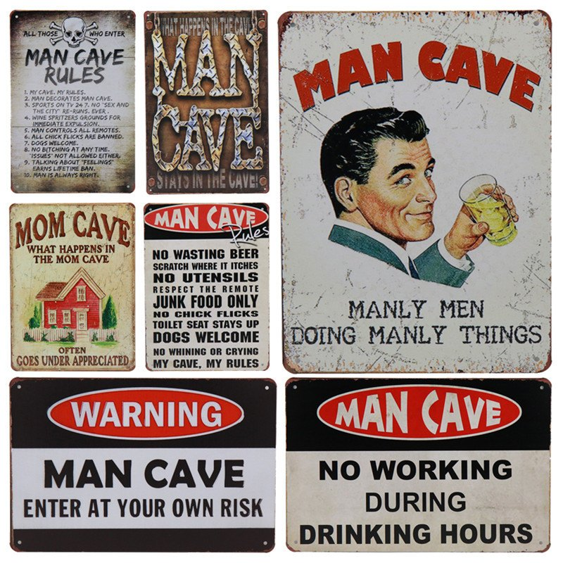30X20cm Man Cave Vintage Metal Poster Motorcycle Cheers Retro Wall Stickers Home Decor For Bar Pub Club Tin Signs Rock H30