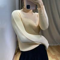 Changpleat New Women turtleneck Tops Miyak Pleated Fashion Solid long sleeve Tee Big elastic Wild Bottoming T shirts Tide T98035