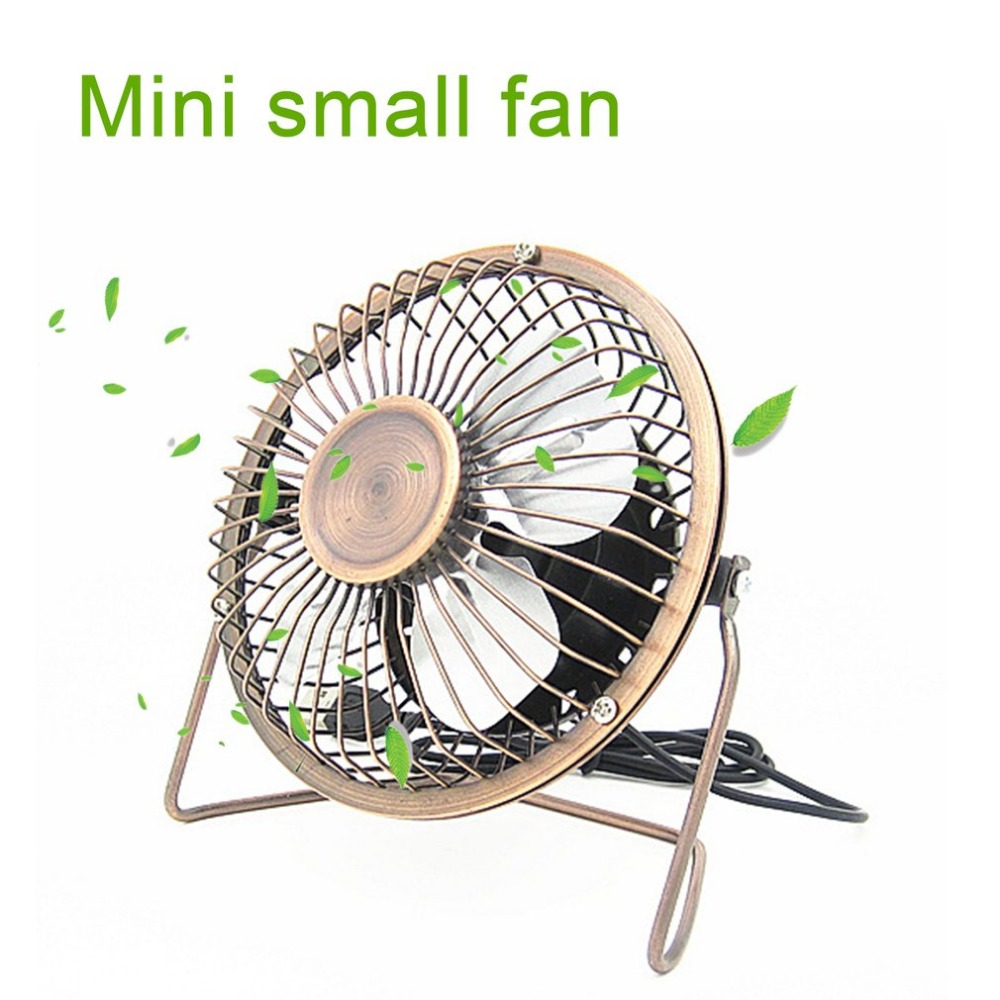 Fashion Portable 4Inch USB Cooling Fan Small 4 Blades Desk USB Cooler Super Ultra-quiet Mini Car USB Fan Home Silent Desktop Fan