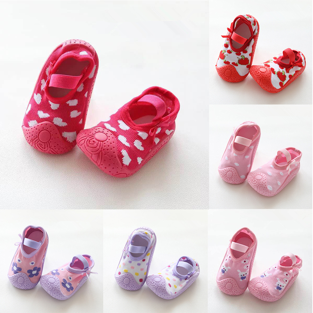 0 To 24M Spring Princess Summer Soft Rubber Sole Baby Cartoon Floor Socks Girls Ankle Sock Breathable Anti-slip Toddler Shoes