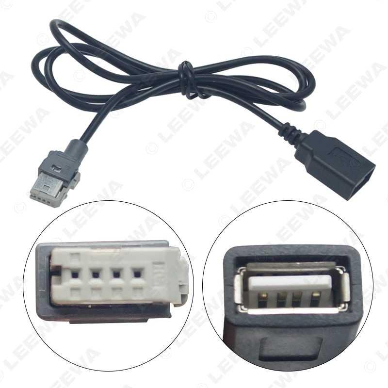 LEEWA estándar original Radio CD de Audio macho a USB adaptador de Conector para Peugeot 307 408 Citroen C4 C5 cable de datos cable # CA6157